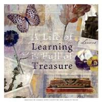 Learning Treasure - mini Framed Print