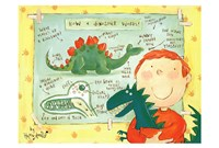 "How a Dinosaur Works by Helen Doodle - 17"" x 12"""