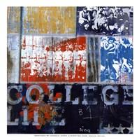 "College Life - mini by David Fischer - 13"" x 13"""