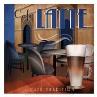 "Cafe Latte - mini by David Fischer - 13"" x 13"""