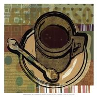 """Java Print I - mini by Walter Robertson - 13"""" x 13"""""""