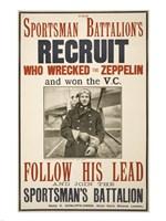 The Sportsman Battalion's Recruit Poster - various sizes