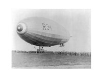 Landing of British Dirigible R-34 at Mineola, Long Island, N.Y. Fine Art Print