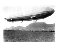 Zeppelin Airship LZ 11 Viktoria Luise on May 5, 1912 in Marburg Fine Art Print