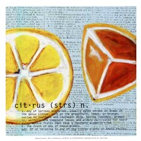 Citrus text - mini Fine Art Print