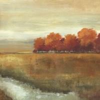 "Orange Treescape II - mini by Allison Pearce - 13"" x 13"""