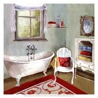 Tranquil Bath I - mini Framed Print