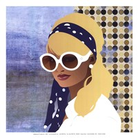 Scarf and Shades - mini Framed Print