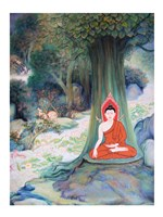 Paintings of Life of Gautama Buddha Fine Art Print
