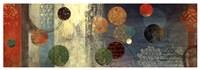 "Mosaic Circles II by Aimee Wilson - 37"" x 13"", FulcrumGallery.com brand"