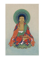 Buddha Sitting on a Lotus Fine Art Print