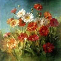 Painted Daises Framed Print