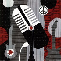 Rock n' Roll Mic Fine Art Print