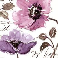 Floral Waltz Plum I Fine Art Print