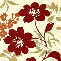 "Floral Shadows II by Lisa Audit - 18"" x 18"""