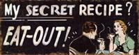 "My secret Recipe by Pela Studio - 20"" x 8"""