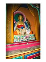 Statue of Buddha in a temple, Paugha, Annapurna Range, Nepal - various sizes, FulcrumGallery.com brand