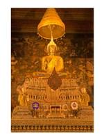 Buddha in a temple, Wat Pho, Rattanakosin District, Bangkok, Thailand - various sizes