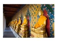 Statues of Buddha in a row, Wat Arun, Bangkok, Thailand - various sizes