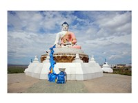 Low angle view of a statue of Buddha, Darkhan, Mongolia - various sizes