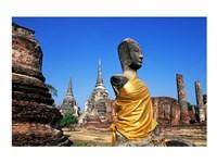 Buddha at a temple, Wat Phra Si Sanphet, Ayutthaya, Thailand - various sizes
