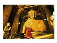Statue of Buddha, Wat Phanan Choeng, Ayutthaya, Thailand - various sizes