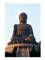 Tian Tan Buddha, Po Lin Monastery, Hong Kong, China Fine Art Print