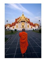 Buddhist Monk at a Temple Fine Art Print