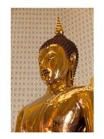 Golden Buddha Statue in a Temple, Wat Traimit, Bangkok, Thailand Framed Print