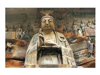 Buddhist Cliff Sculptures, Dazu, China Fine Art Print