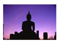 Silhouette of the Seated Buddha, Wat Mahathat, Sukhothai, Thailand - various sizes, FulcrumGallery.com brand