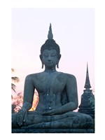 Front view of the Seated Buddha, Wat Mahathat, Sukhothai, Thailand Framed Print