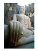 Seated Buddha, Wat Si Chum, Sukhothai, Thailand Framed Print