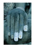 Hands of a giant statue of Buddha, Wat Si Chum, Sukhothai, Thailand Framed Print