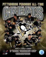 Pittsburgh Penguins All-Time Greats Composite Fine Art Print