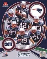 New England Patriots 2011 AFC East Division Champions Composite Fine Art Print