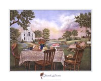 Church Picnic Fine Art Print