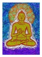 Zen Gogh Buddha Fine Art Print