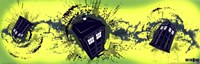 Doctor Who Tardis Taking Off Horiz. Framed Print