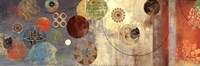 "Mosaic circles I - mini by Aimee Wilson - 18"" x 6"", FulcrumGallery.com brand"