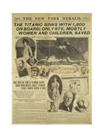 New York Herald front page about the Titanic Disaster Fine Art Print