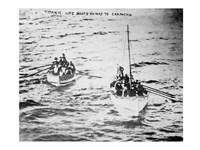 Titanic Life Boats on Way to Carpathia Fine Art Print