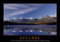 Success - mountains Framed Print