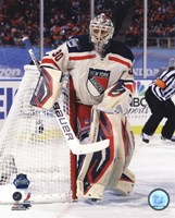 Henrik Lundqvist 2012 NHL Winter Classic Action Fine Art Print