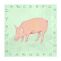 Pig Alphabet Fine Art Print