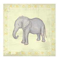 Elephant Alphabet Fine Art Print