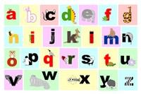 Animal Alphabet Fine Art Print