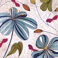 "Flowers & Butterflies by Tandi Venter - 12"" x 12"""