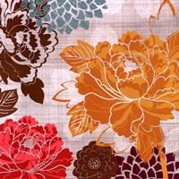 """Peony Patterns II by Tandi Venter - 28"""" x 28"""" - $24.99"""