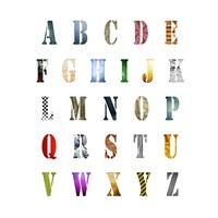 Alphabet Poster Framed Print